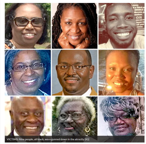 The victims of Wednesday's racist terrorist attack.