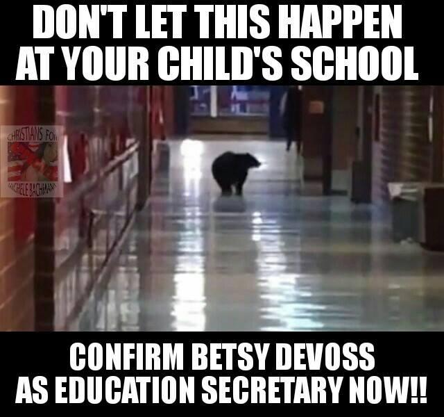 betsy devos bear comment
